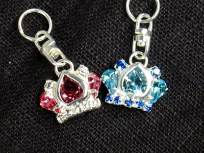 Stunning Crystal Crown Charm<br>Perfect for your Diva and Prince!