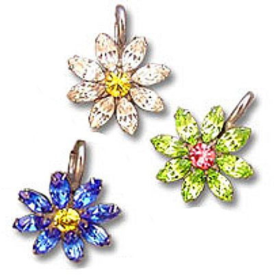 Very Sweet Crystal Sunflower Pet Necklace Charm