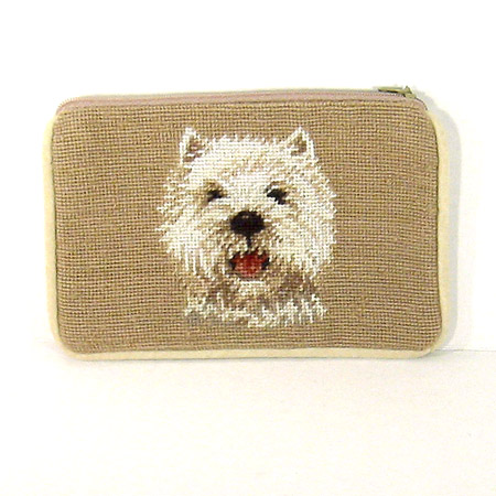 West Highland White Terrier Needlepoint Purse